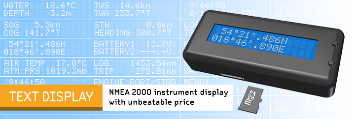 Instrument display tor NMEA 2000 networks