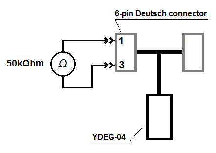YDEG-04 test circuit for measuring transceiver input resistance