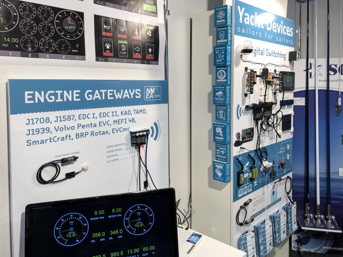Yacht Devices booth at Dusseldorf Boot Show 2019