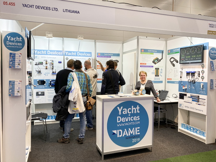 Yacht Devices booth at METS Trade 2019