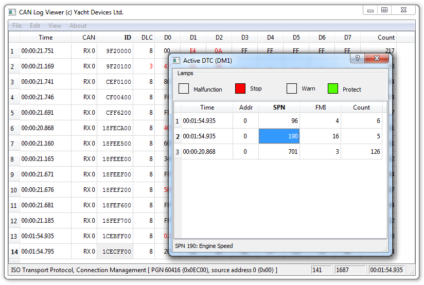CAN Log Viewer : Free software