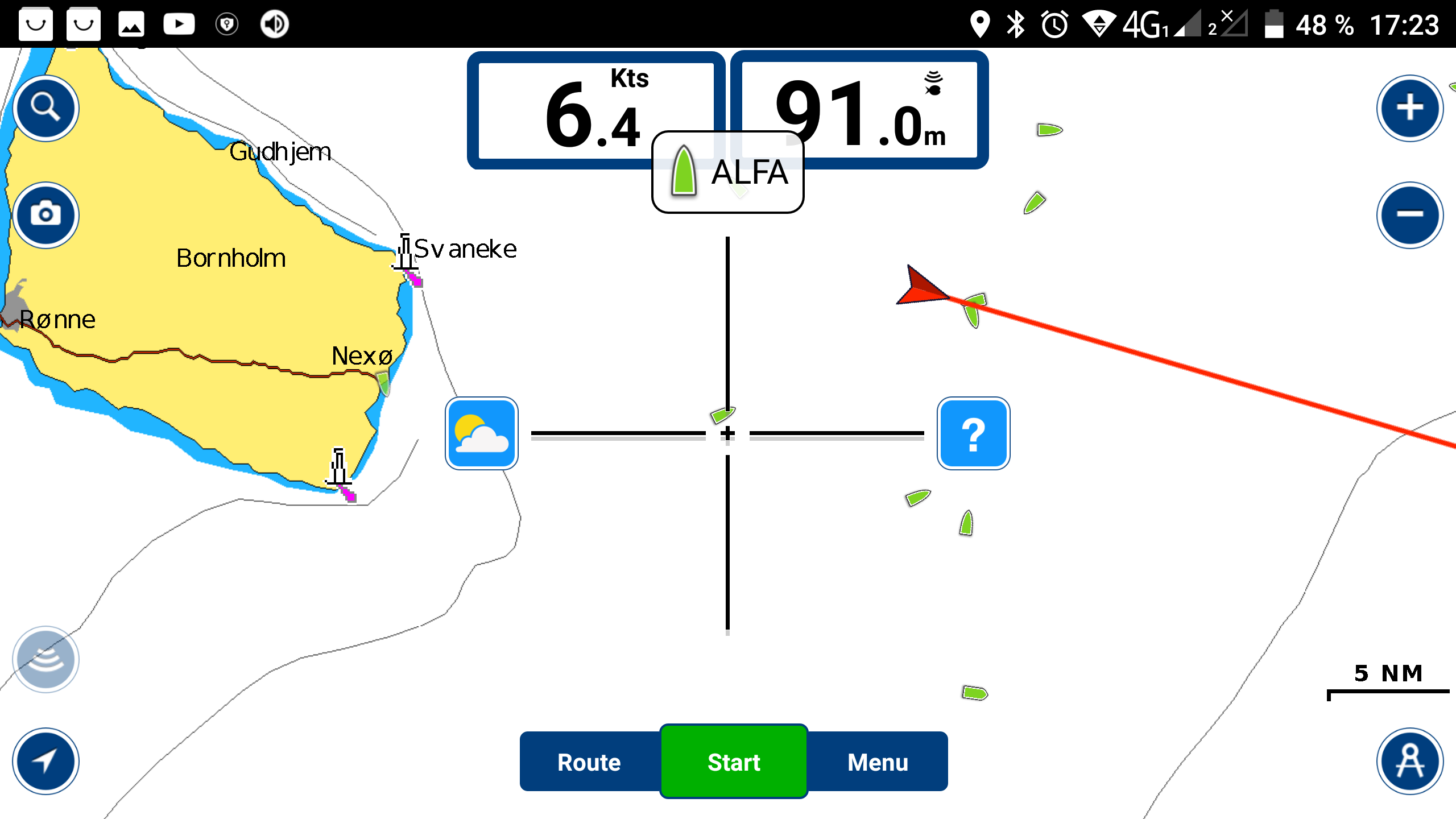 Navionics Boating App with AIS data