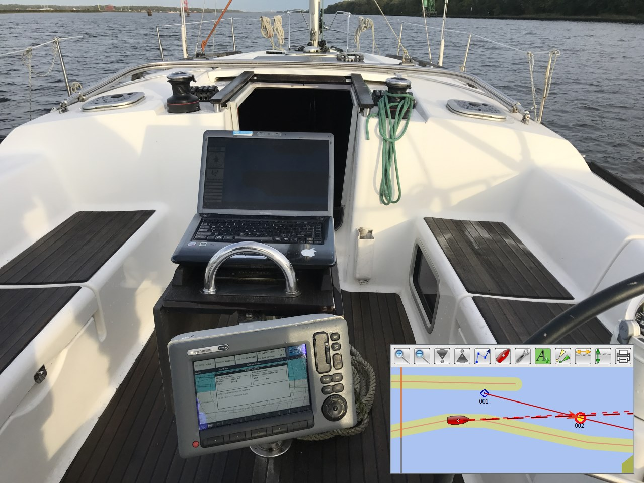 Sea trial of Raymarine autopilot and Wi-Fi Gateway