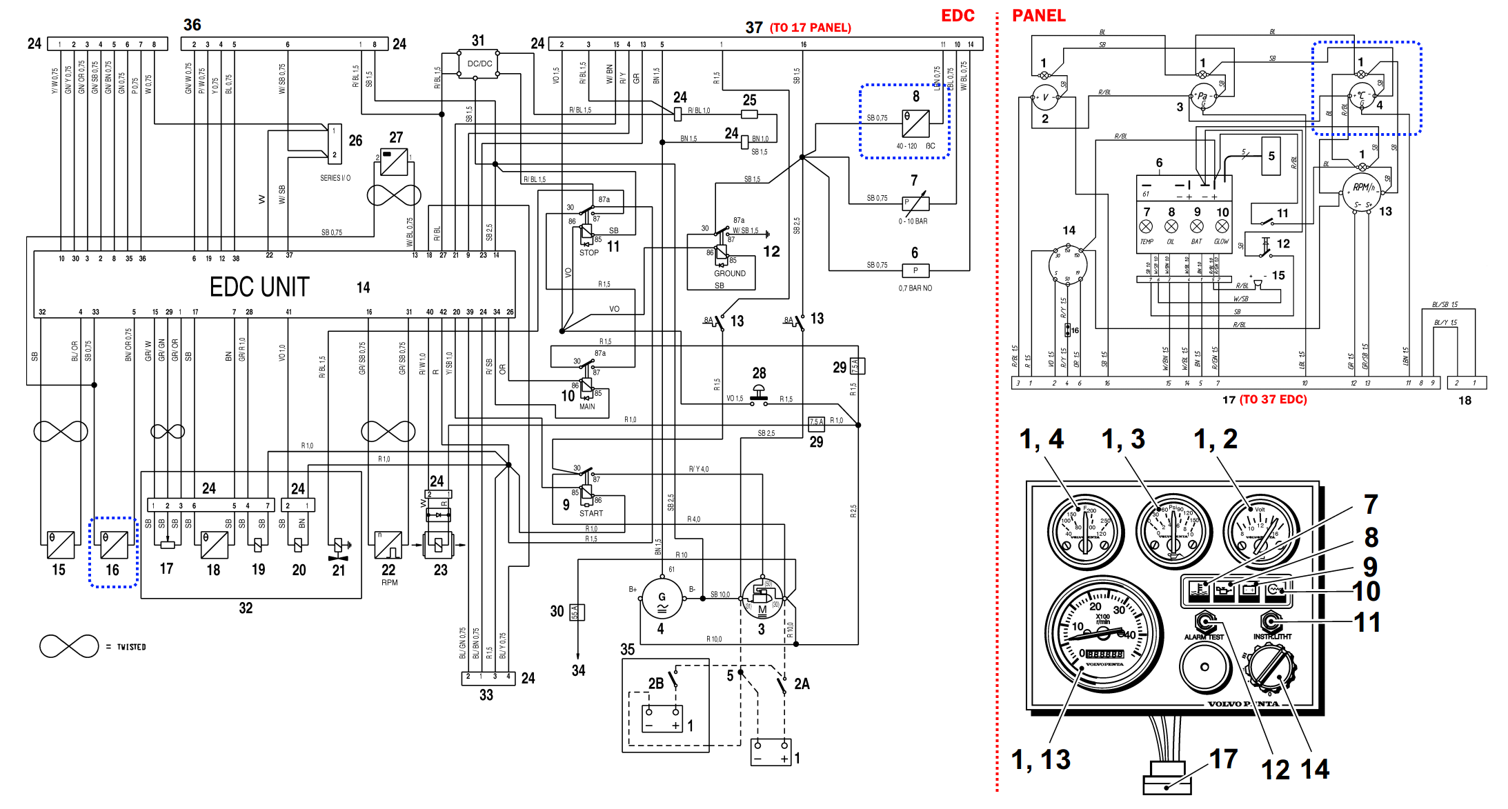 Volvo Penta Kad44 Workshop Wiring Diagram