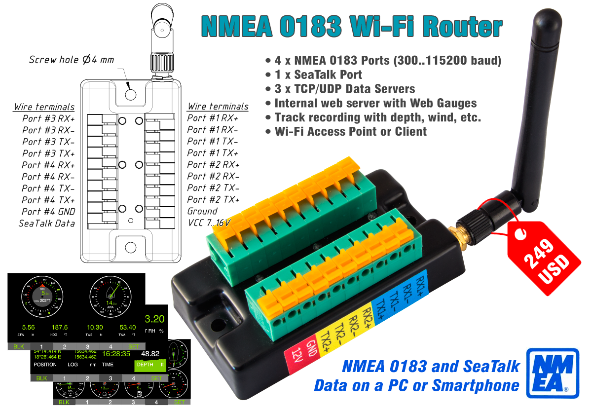 Yacht Devices News: New product: NMEA 0183 Wi-Fi Router