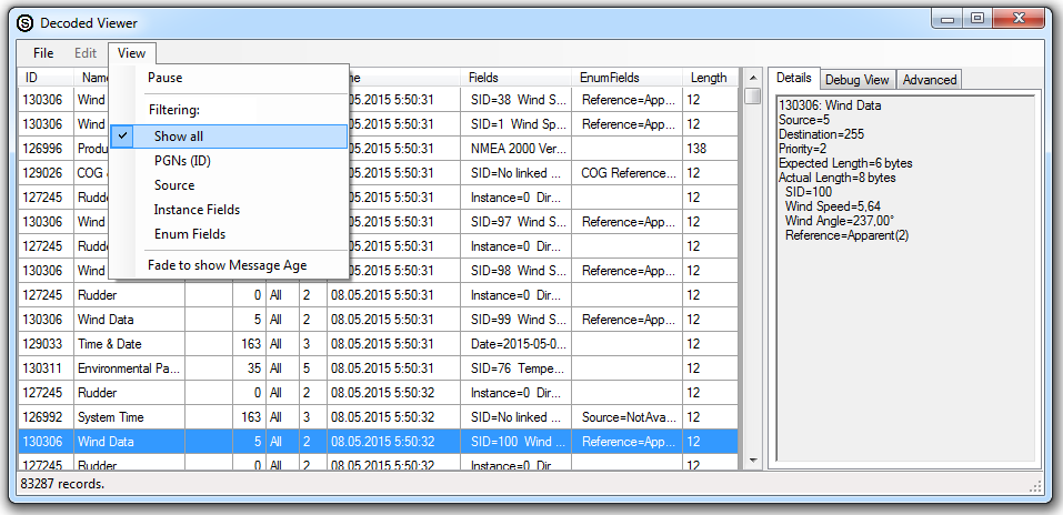 Screenshot of OpenSkipper with YDVR data, click to enlarge