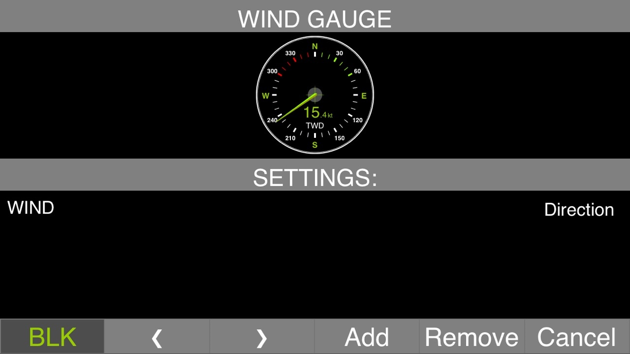 Add True Wind Direction circular gauge