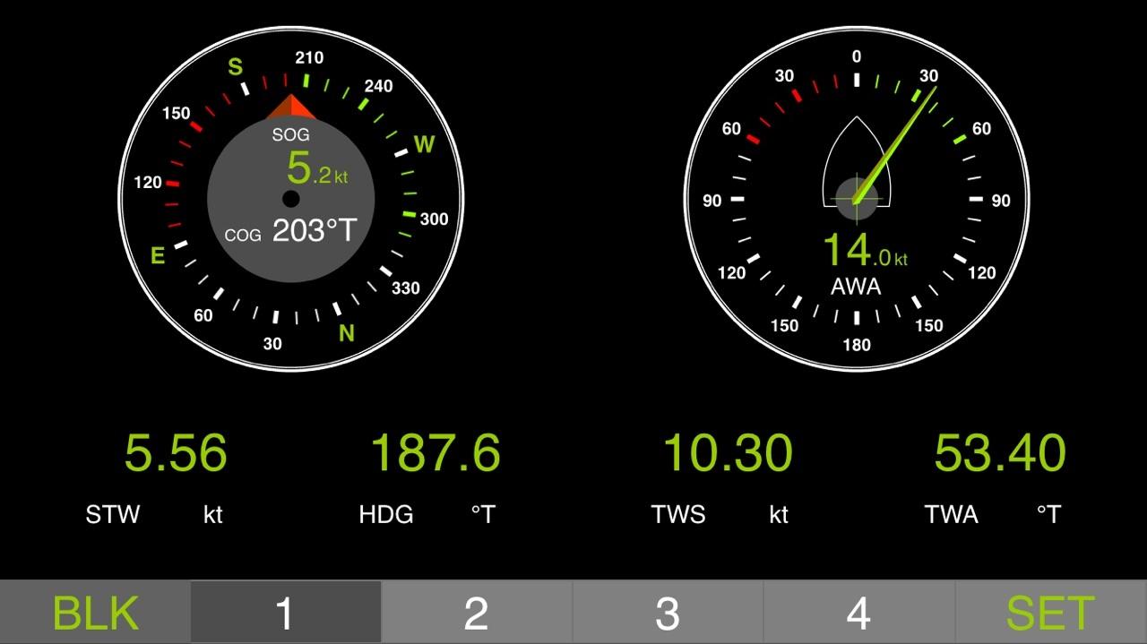 gauges cog sog wind