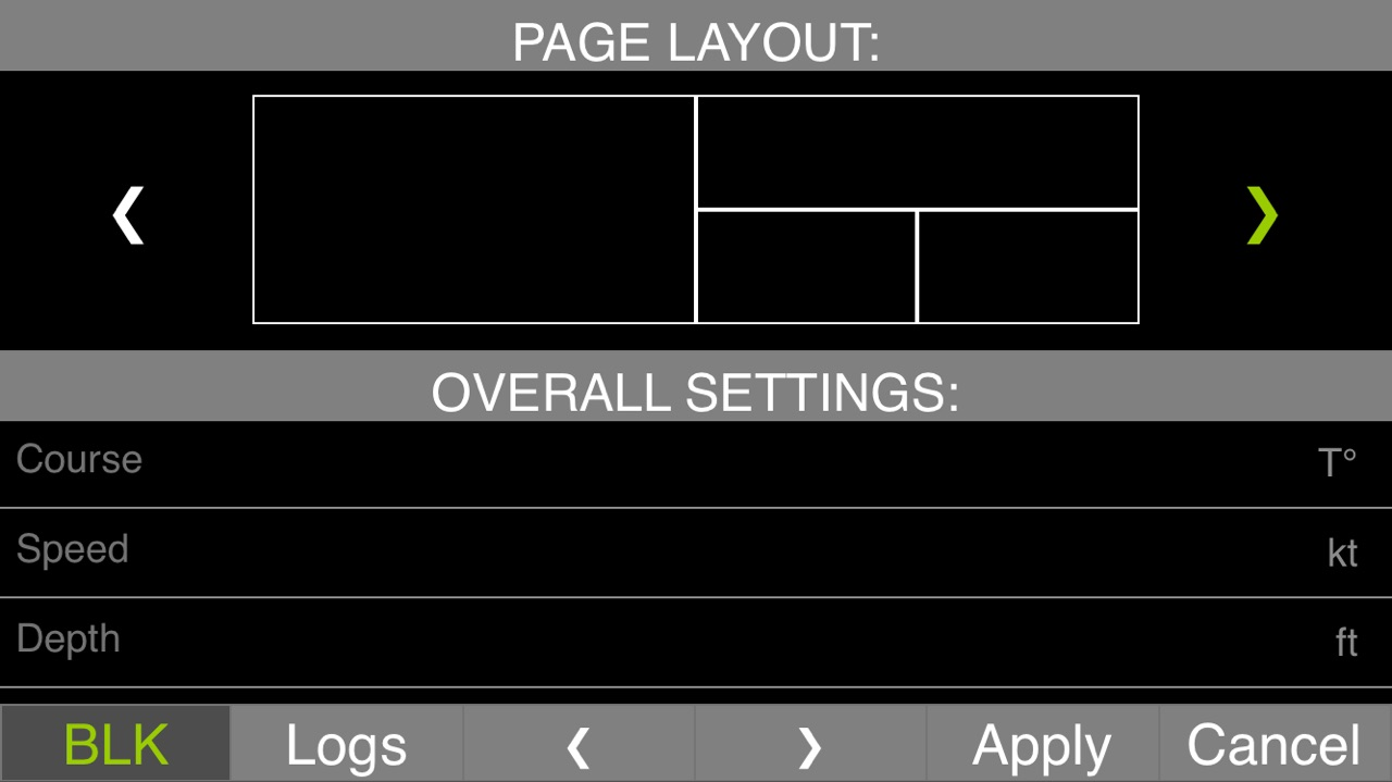 Customization of a data page layout