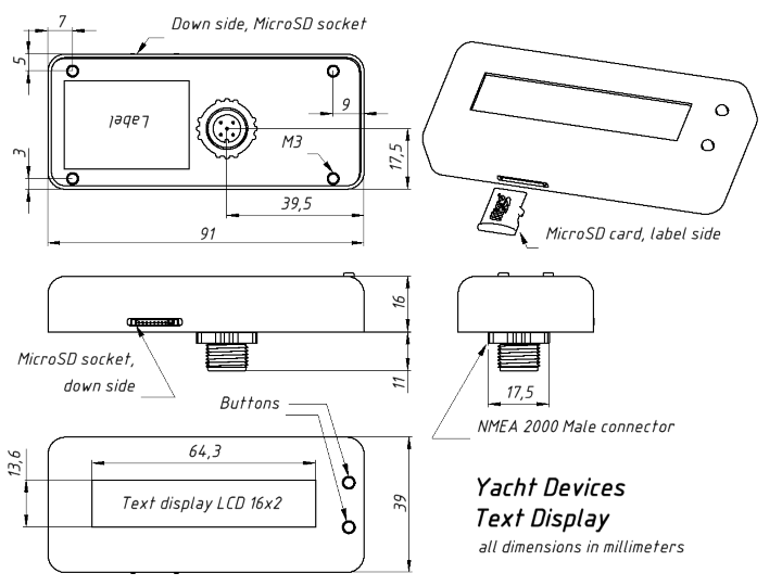 Drawing of the Text Display