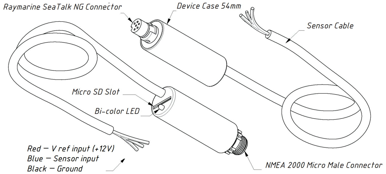 Drawing of Tank Adapter YDTA-01